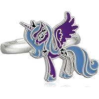 My Little Pony Girl's Brass Fine Silver-Plated Lune Purple U…