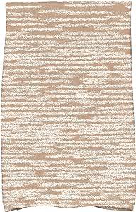 "E by Design Marled 针织几何印花厨房毛巾 Taupe/Beige 16"" x 25"" KTGN451TA8"