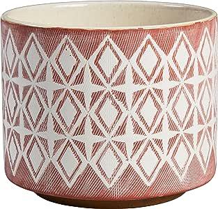Rivet 现代几何陶瓷花盆 玫瑰红 中 AMZ18-69